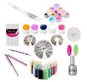 kit nail art mixed