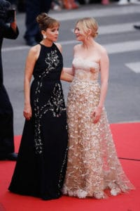 CANNES, FRANCE - MAY 22: Jury members Valeria Golino (L) and Kirsten Dunst attend the closing ceremony of the 69th annual Cannes Film Festival at the Palais des Festivals on May 22, 2016 in Cannes, France. (Photo by Tristan Fewings/Getty Images)