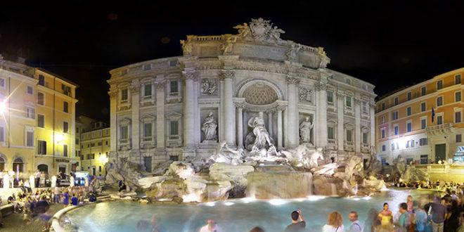 Fendi e la Sfilata sulla Fontana di Trevi 2016