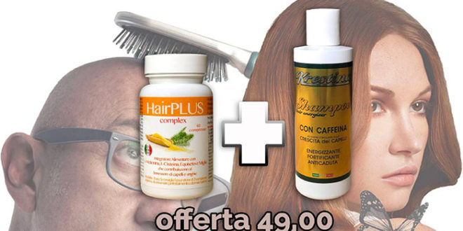 Integratore e Shampoo Per Capelli Deboli, Sfibrati e Opachi