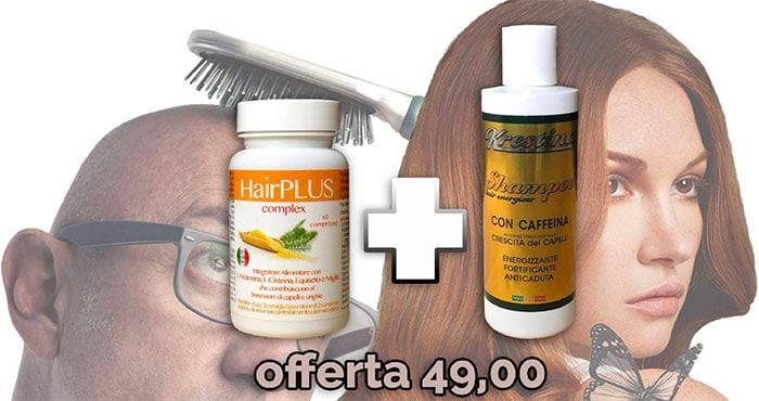 big sale e3647 526cf Integratore e Shampoo Per Capelli Deboli, Sfibrati e Opachi