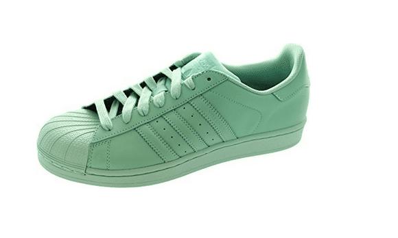 adidas superstar verde acqua