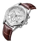 orologio da polso al quarzo cronografo con lente minerale