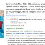 sand free telo mare 200 200 antisabbia spiaggia