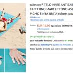 takestop telo mare antisabbia 200 150 cm asciugatura veloce