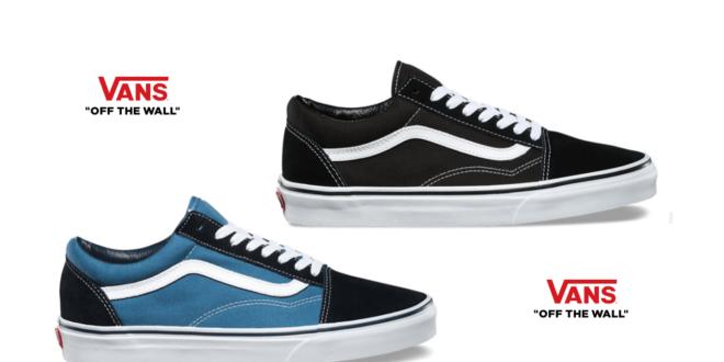scarpe vans nere e bianche