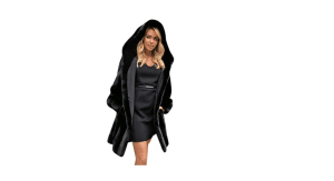 koly donna giacca calda pelliccia sintetica