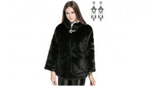 semia donna cappotto lungo finta pelliccia