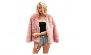 simplee apparel donna cappotto invernale pelliccia sintetica
