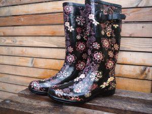 stivali in gomma per la pioggia