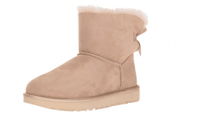 ugg mini bailey bow metallic dusk