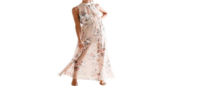 abito-floreale-elegante-mare-lungo-senza-maniche